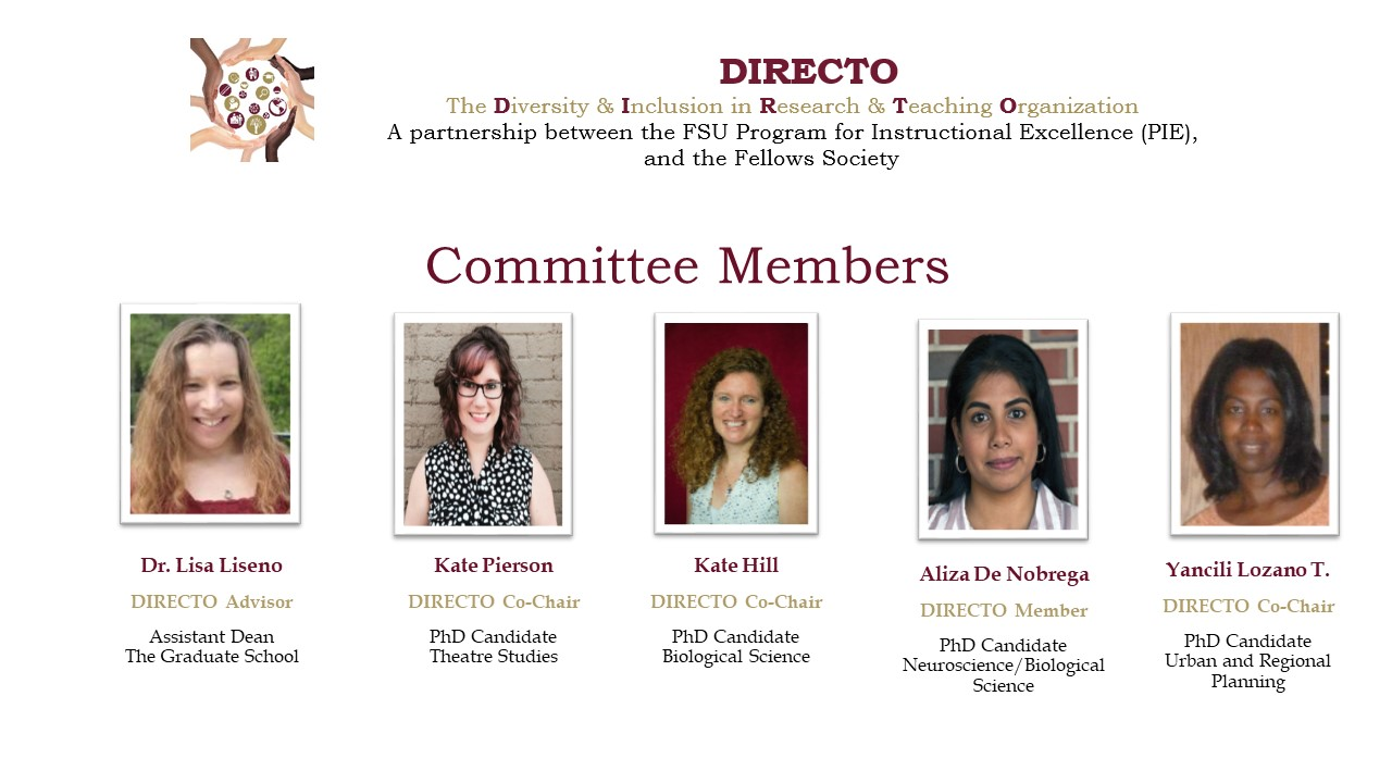 DIRECTO Committee Members Summer & Fall 2018