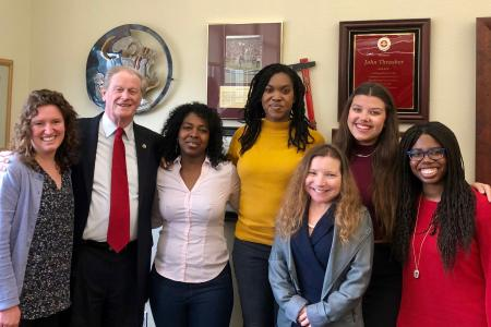 DIRECTO members with President Thrasher